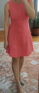 Anne Klein fit and flare sleeveless linen dress
